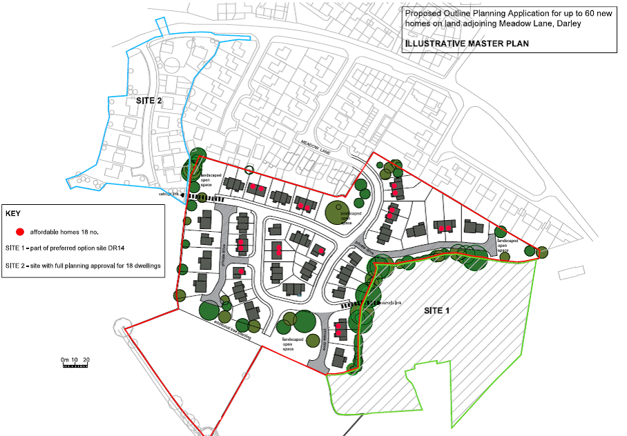 Outline Application submitted for 60 dwellings in Darley
